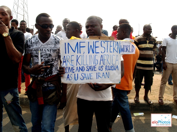 Photos of MASS PROTEST AGAINST THE REMOVAL OF FUEL SUBSIDY: DAY 1 (1/6)