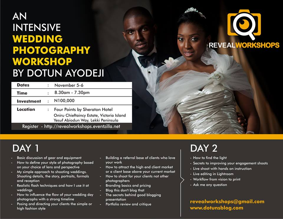 dotun's blog wedding workshop