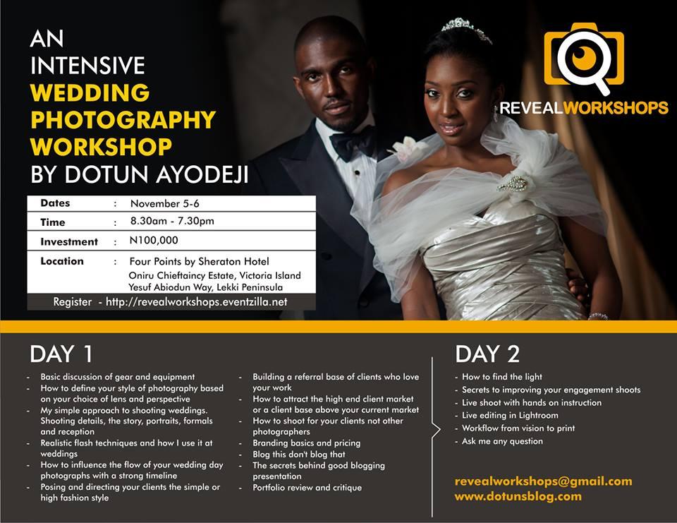 dotun's blog wedding workshop